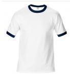 76600杰丹进口180g短袖T恤批发(撞色领)