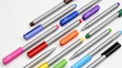 PREMEC CHALK巧可勾线笔12色绘图彩笔 中性笔彩色水笔 纤维笔套装