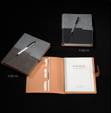 记事本活页线圈本笔记本 变色PU革 支持logo定制和礼品定制