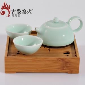 春壶茶盘 一壶二杯+茶盘