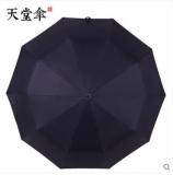 天堂伞 商务晴雨伞 黑胶伞 防紫外线