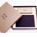 派克大笔记本礼盒+ IM磨砂黑杆白夹宝珠笔套装