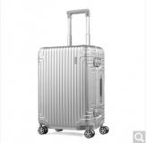 新秀丽新秀丽经典铝箱登机行李箱 23寸 银色