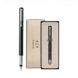 派克  威雅黑色胶杆墨水笔,官方商务签字笔