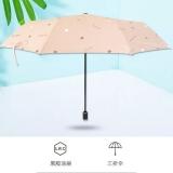 精品黑胶UV防紫外线折叠晴雨伞 支持logo定制