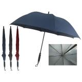 碰击布素色直杆直柄旅行伞 支持定制logo