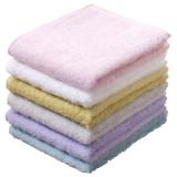 日本内野棉花糖洗脸巾儿童宝宝小方巾 成人女士纯棉吸水小毛巾