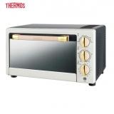 膳魔师(THERMOS) 电烤箱21L大容量 家用烘焙机 防烫防爆 热风循环 EHA-5132A 白金色